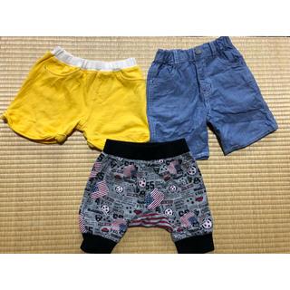 ニシマツヤ(西松屋)のハーフパンツ3点セット(90cm)(パンツ/スパッツ)