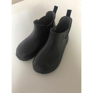 子ども サイドゴア レイン ショート ブーツ シューズ 長靴 19cm  美品
