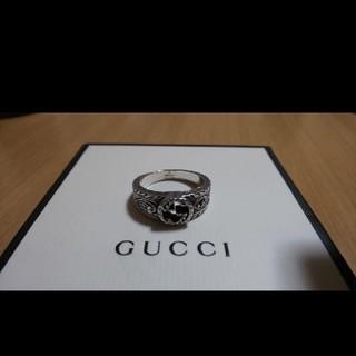 Gucci - GUCCI インター ロッキング リング 燻し 19号表記