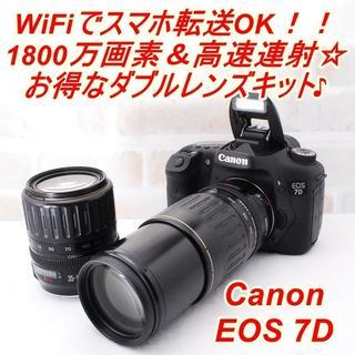 Canon -  ★極上美品 WiFi転送OK! キヤノン EOS 7D Wレンズキット★