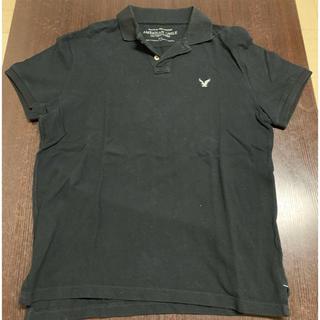 アメリカンイーグル(American Eagle)のアメリカン イーグル ポロシャツ ブラック M 日本未入荷(ポロシャツ)