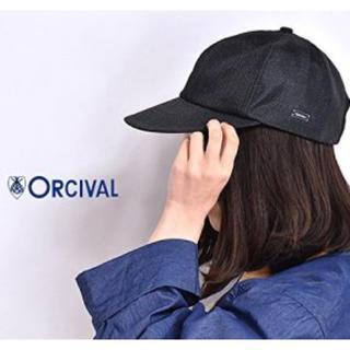 オーシバル(ORCIVAL)のオーチバル ラフィア キャップ 黒(キャップ)