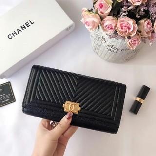 シャネル(CHANEL)のシャネル 財布  CHANEL ブラック(折り財布)
