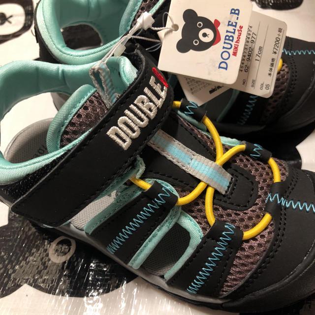 mikihouse(ミキハウス)の17♡ミキハウス♡ダブルb♡サンダル♡100.110.120 キッズ/ベビー/マタニティのキッズ靴/シューズ (15cm~)(サンダル)の商品写真