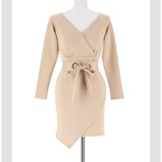 デイジーストア(dazzy store)のベルト付ワンカラータイトチューリップカットミニドレス(ミニドレス)