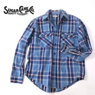 シュガーケーン(Sugar Cane)の東洋SUGAR CANE 初期 シュガーケーン ブルー系チェック デニムシャツ(シャツ)