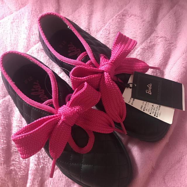 Barbie(バービー)の♡新品♡Barbie♡スニーカー♡ピンク♡レア♡ レディースの靴/シューズ(スニーカー)の商品写真