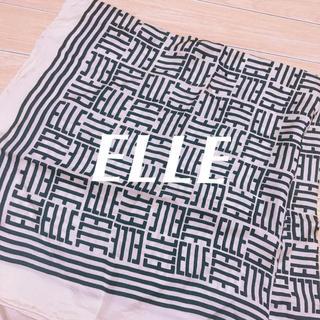 エル(ELLE)のELLE ロゴ総柄スカーフ ポケットチーフ ヴィンテージ(バンダナ/スカーフ)
