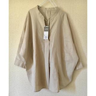 GU - 定価2149円  コットンリネン  スキッパー シャツ
