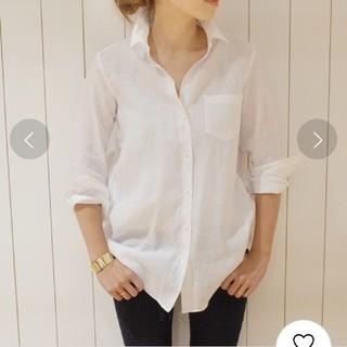 DEUXIEME CLASSE - Deuxieme Classe  リネン ワイヤーウォッシュシャツ
