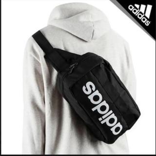 adidas - 新品! アディダス ボディバッグ リニアロゴ サイドバッグ ブラック