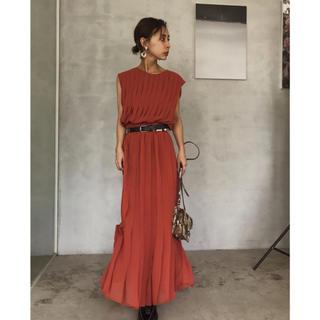 アメリヴィンテージ(Ameri VINTAGE)のプリーツステッチドレス☆ PLEATS STITCH DRESS(ロングワンピース/マキシワンピース)