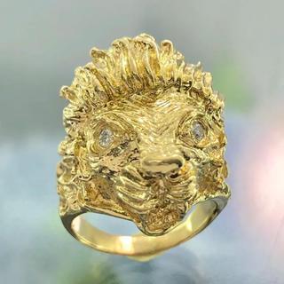 ライオン ダイヤリング  K18ゴールド指輪(リング(指輪))
