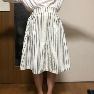 THE EMPORIUM - ストライプのフレアスカート