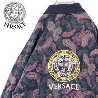 VERSACE - 送料無料!ヴェルサーチ 総柄 ゆるだぼ スウィングトップ 刺繍ロゴ イタリア製