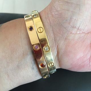 カルティエ(Cartier)の確実正規品カルティエラブブレス、ピンクゴールド♯17(ブレスレット/バングル)