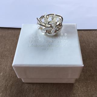 マルタンマルジェラ(Maison Martin Margiela)の19SS新品S マルジェラ シルバー チェーンリング 今期(リング(指輪))