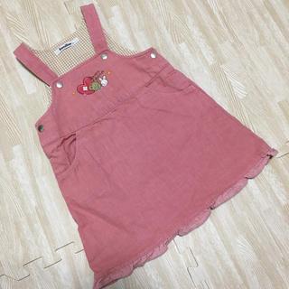 ファミリア(familiar)のファミリア ジャンパースカート ワンピース ピンク リアちゃん 90(ワンピース)