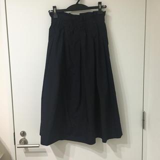 ユニクロ(UNIQLO)の膝下 紺のスカート(ひざ丈スカート)