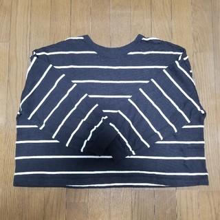 ジーユー(GU)のGU ボーダーカットソー#長袖Tシャツ XL(Tシャツ(長袖/七分))
