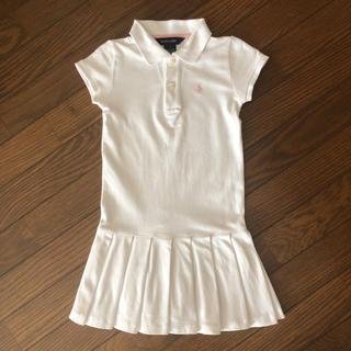 ラルフローレン(Ralph Lauren)のラルフローレン ワンピース 白 半袖 120(ワンピース)
