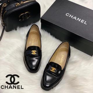 シャネル(CHANEL)の724 CHANEL エナメル ローファー(ローファー/革靴)