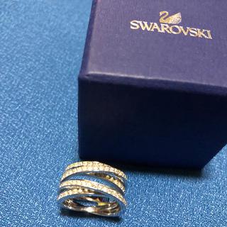 スワロフスキー(SWAROVSKI)のスワロフスキースパイラルリング14-16号(リング(指輪))