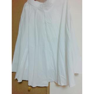 ユニクロ(UNIQLO)の白 スカート(ロングスカート)
