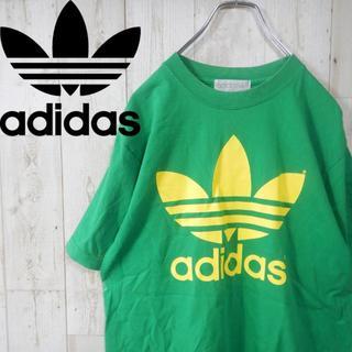 アディダス(adidas)のアディダス ビッグロゴ 90s  トレフォイルロゴ Tシャツ M グリーン(Tシャツ/カットソー(半袖/袖なし))