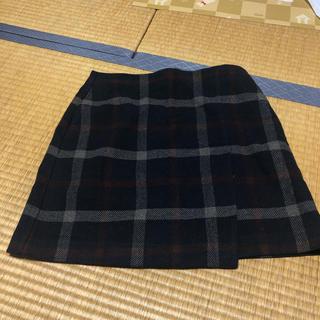 ユニクロ(UNIQLO)のチェックスカート ウールスカート(ミニスカート)