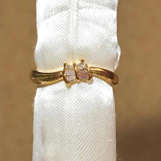 未使用‼︎ k18 ゴールドダイヤリング(リング(指輪))