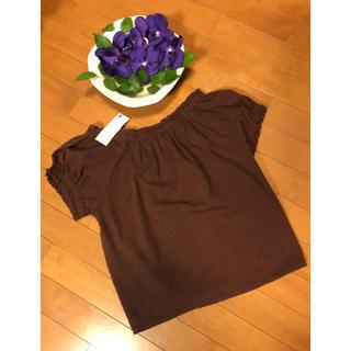 ジーユー(GU)の🍀フリルブラウス半袖・新品未使用品❣️(シャツ/ブラウス(半袖/袖なし))