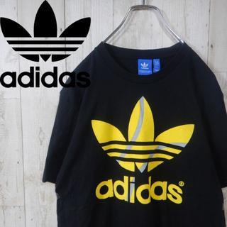 アディダス(adidas)のアディダス ビッグロゴ 90s  トレフォイルロゴ Tシャツ L ブラック(Tシャツ/カットソー(半袖/袖なし))