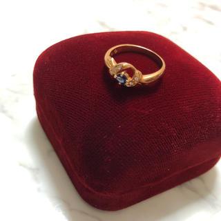 大特価!指輪 サファイア ダイア 18K(リング(指輪))