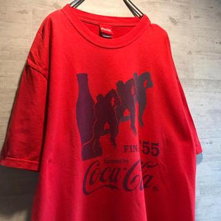 コカコーラ(コカ・コーラ)の90s cocacola コカコーラ Tシャツ vintage 古着 赤(Tシャツ/カットソー(半袖/袖なし))