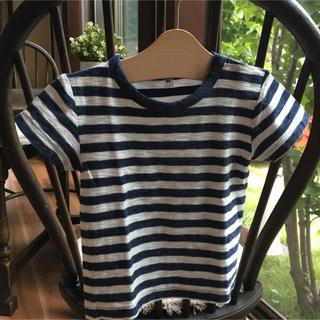 ムジルシリョウヒン(MUJI (無印良品))の無印良品 スラブボーダー 半袖Tシャツ 80 (Tシャツ)