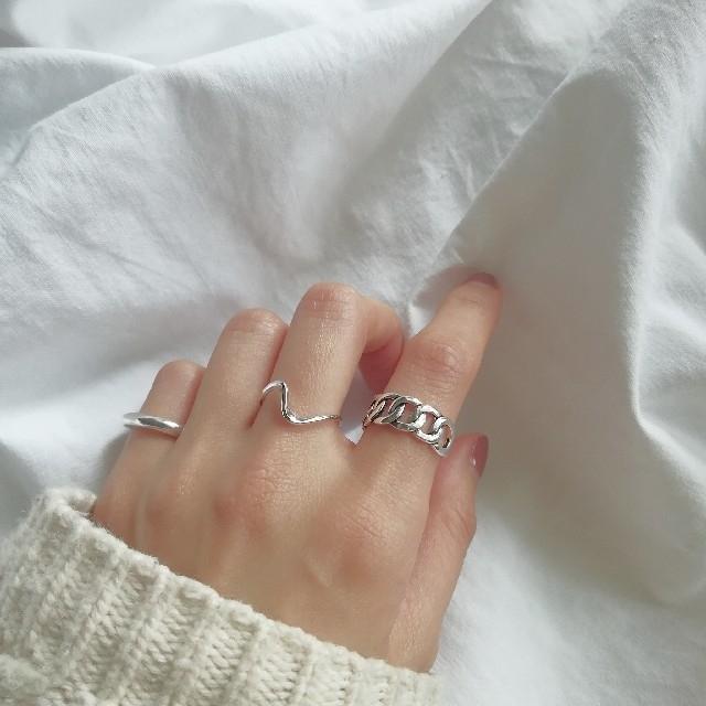 moussy(マウジー)の【数量限定SALE】silver 925 chain ring 1 *  レディースのアクセサリー(リング(指輪))の商品写真