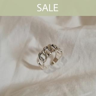 マウジー(moussy)の【数量限定SALE】silver 925 chain ring 1 * (リング(指輪))