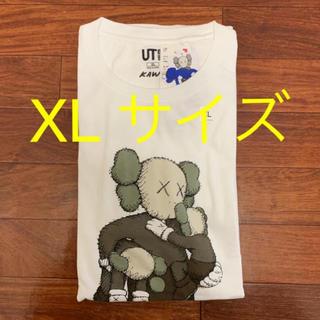 UNIQLO - uniqlo kaws ティーシャツ XL ホワイト キャラ カウズ