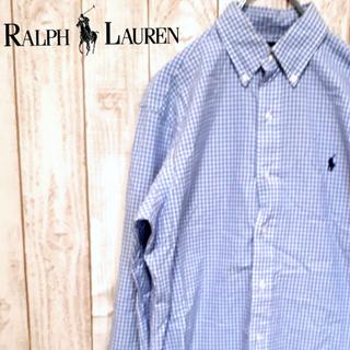 ラルフローレン(Ralph Lauren)の【定番デザイン】ラルフローレン チェック ボタンダウンシャツ ワンポイント(シャツ)