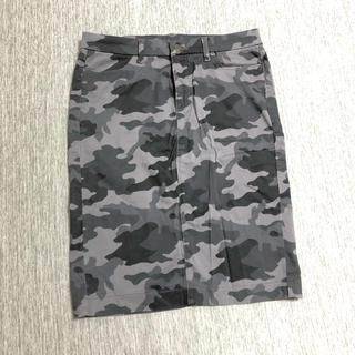 ユニクロ(UNIQLO)の未使用 迷彩柄 カモフラージュ スカート(ひざ丈スカート)