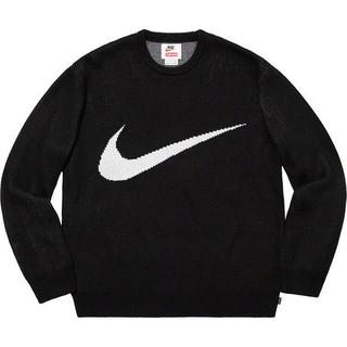 Supreme NIKE Swoosh Sweater 黒 M