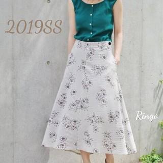IENA - 【2019SS】ストライプフラワースカート◆ナチュラル/サイズ 40