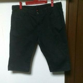 ユニクロ(UNIQLO)のUNIQLO JEANS UJ / half-pants / L / black(ショートパンツ)