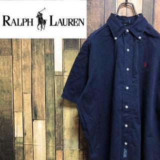 ラルフローレン(Ralph Lauren)の【激レア】ラルフローレン☆ワンポイント刺繍ロゴ入り半袖ボタンダウンシャツ 90s(シャツ)