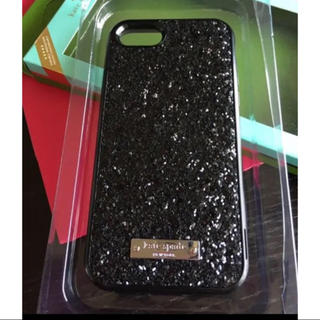 kate spade new york - ケイトスペード iPhone 7/8グリッターBLACK