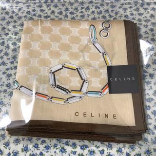 セリーヌ(celine)の【新品】CELINE セリーヌ ハンカチ 1枚 マガダム クリーム チェーン(ハンカチ)