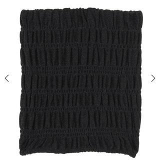 エモダ(EMODA)のEMODA シャーリングスカート ブラック(ミニスカート)