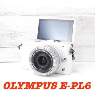 オリンパス(OLYMPUS)の❤️可動式モニター❤️スマホに送れる❤️オリンパス E-PL6(ミラーレス一眼)