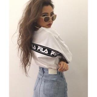 GYDA - ジェイダ FILA TシャツFILAグラフィックラインBIG Tシャツ